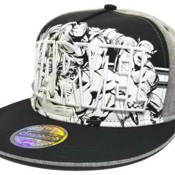 Marvel Other - Marvel Avengers Adjustable Snapback Comic Hat